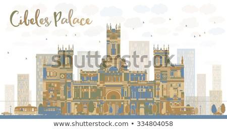 Streszczenie pałac Madryt Hiszpania budynku ruchu Zdjęcia stock © ShustrikS