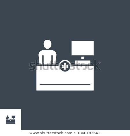 Recepcji wektora ikona odizolowany biały projektu Zdjęcia stock © smoki