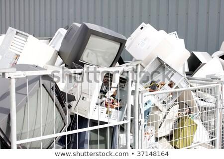 рециркуляции Компьютерный монитор телевизор Recycle центр металл Сток-фото © Lopolo