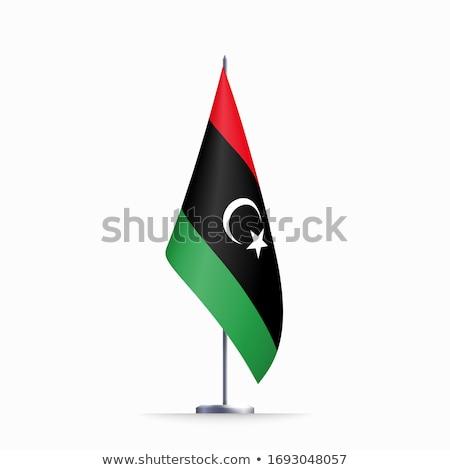 Libya flag, vector illustration on a white background Stock photo © butenkow