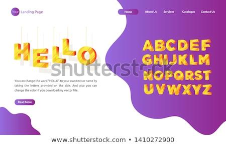 Marca nome aterrissagem página negócio estratégia de marketing Foto stock © RAStudio