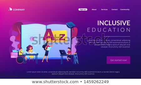 Inclusive education concept landing page Stock photo © RAStudio