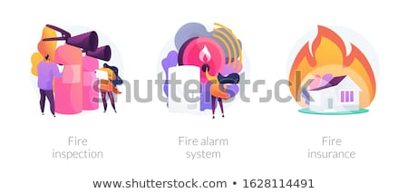 Fire insurance abstract concept vector illustration. Stock photo © RAStudio