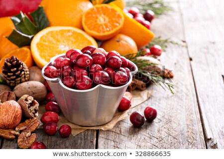 Cranberry and Mandarin Fruit stock photo © marilyna