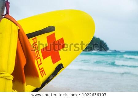 Plage sauvetage mer véhicule prêt voiture Photo stock © morrbyte