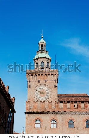 Clock Tower in Bologna Stock photo © aladin66
