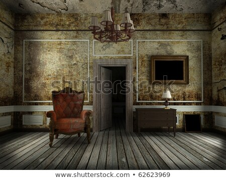 chandelier in grunge interior background stock photo © zakaz