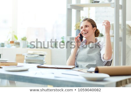 craftswoman in a good mood Stock photo © photography33
