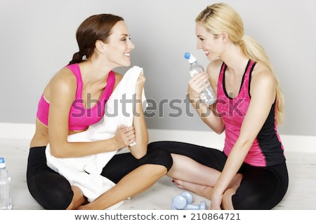 Woman gossiping at the gym Stock photo © photography33