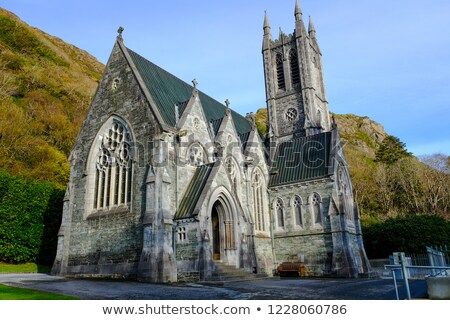 Gothic church at Kylemore Abbey Stock photo © igabriela