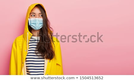 Young woman dressed in striped clothing Stock photo © photography33