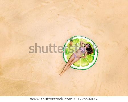 оранжевый пляжное полотенце дизайна здоровья расслабиться ванную Сток-фото © photography33