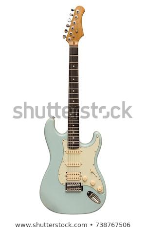 エレキギター 孤立した 白 ギター 文字列 ストックフォト © ozaiachin