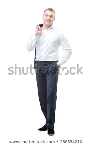 businessman jacket over his shoulder in the studio stock photo © ruslanomega