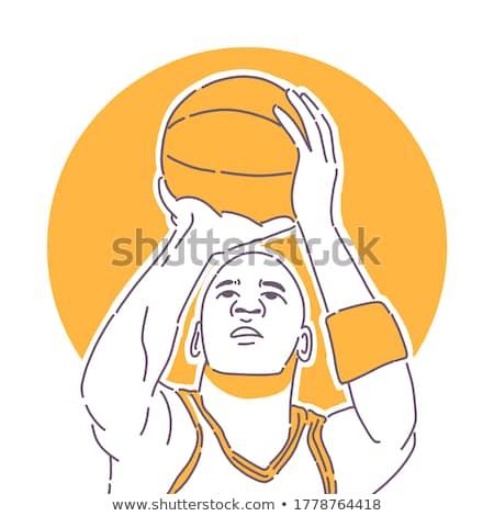 Basketball Farben Jordan Sport Design Web Stock foto © perysty