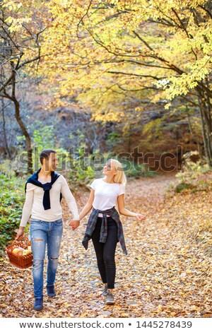 couple going mushroom picking stock photo © photography33