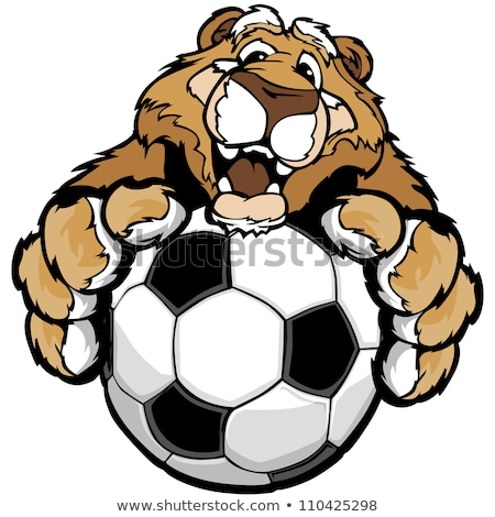 Graphic Vector Image of a Happy Cute Cougar or Mountian Lion Mas Stock photo © chromaco