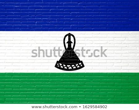 флаг Лесото кирпичная стена окрашенный Гранж текстуры Сток-фото © creisinger