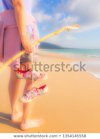 she travels to places sandy  Stock photo © OleksandrO