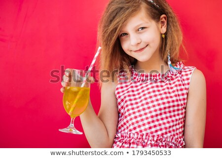 Little girl in a chic pink dress Stock photo © acidgrey