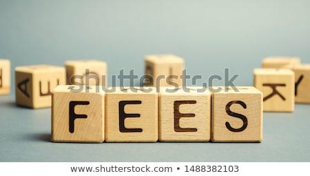 Expenses - Concept of service costs Stock photo © ifeelstock