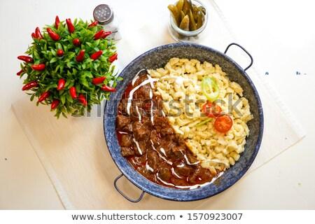 Sığır eti gıda turuncu akşam yemeği makarna Stok fotoğraf © compuinfoto