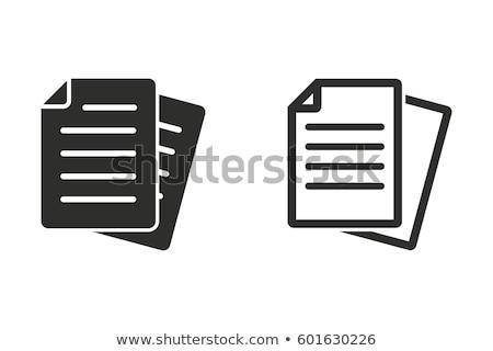 másolat · iratok · háló · interfész · ikon · fehér - stock fotó © make