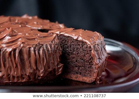 チョコレート 泥 ケーキ スライス 孤立した ピンク ストックフォト © kitch
