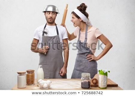女性 シェフ 服 麺棒 幸せ ストックフォト © wavebreak_media