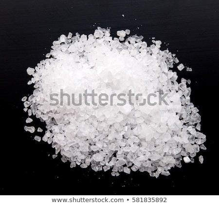 salt on black background stock photo © deyangeorgiev