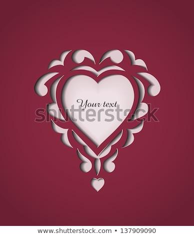 amor · cartão · rubi · coração · vetor - foto stock © carodi