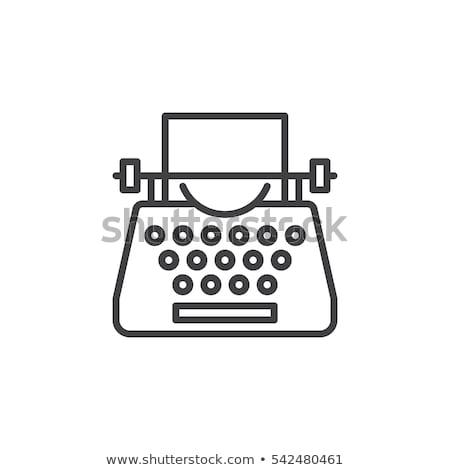 ícone máquina de escrever carta Foto stock © zzve