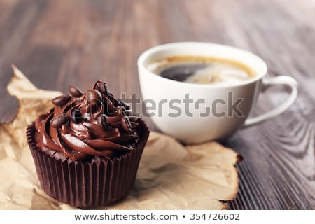 coffee cupcake and espresso stock photo © aladin66
