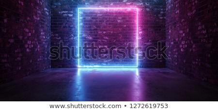 absztrakt · neon · grunge · keret · kék · szín - stock fotó © Designer_things