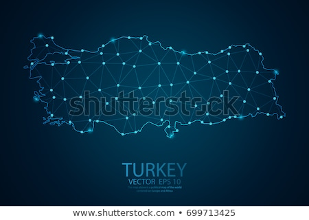 地図 トルコ 3D 青 ストックフォト © NiroDesign