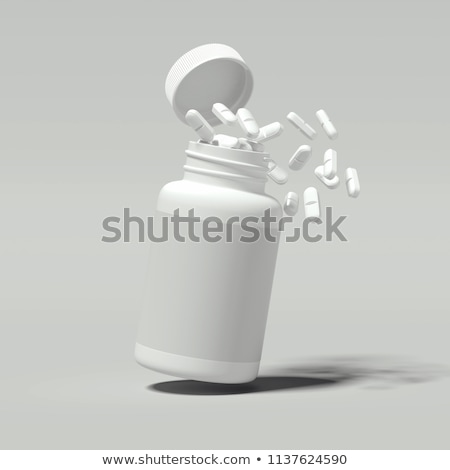 Open bottle with spilling pills Stock photo © stryjek