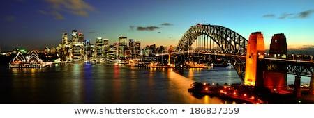 Sydney haven nacht Australië gebouwen Stockfoto © travelphotography