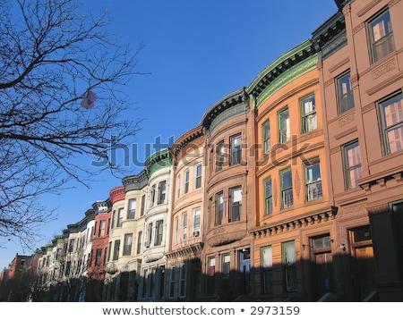 район типичный дома Нью-Йорк бизнеса улице Сток-фото © meinzahn