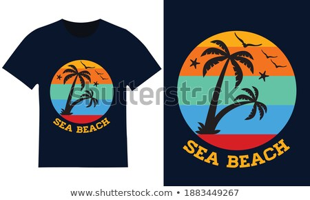 Printable shirt graphic Spring tree Stock photo © shawlinmohd