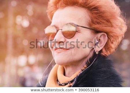 美しい · 赤毛 · 女性 · 車 · 手 · 顔 - ストックフォト © nejron