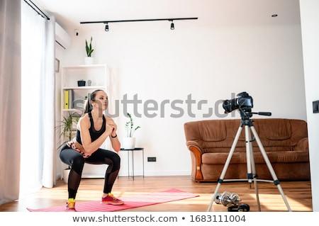 Slender fit brunette. Stock photo © lithian
