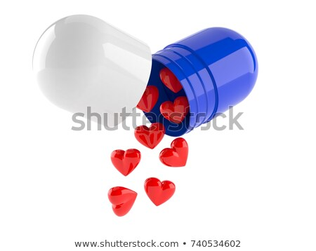 heart with pills isolated Stock photo © OleksandrO