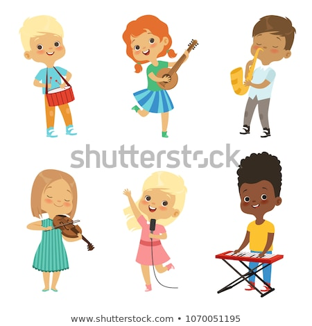 young female musician playing violin stock photo © courtyardpix