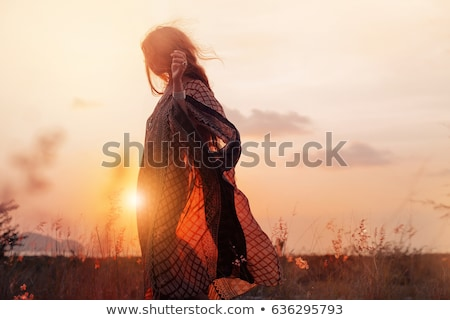 少女 自然 座って 草 ストックフォト © Studio_3321