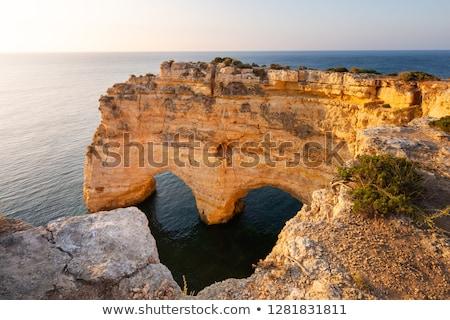 美しい 崖 ポルトガル 海岸 風景 ビーチ ストックフォト © Aitormmfoto