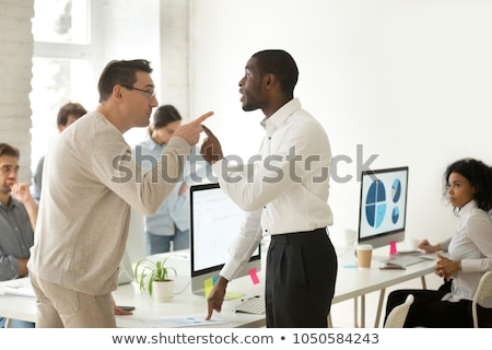 business woman fighting business man stock photo © Giulio_Fornasar