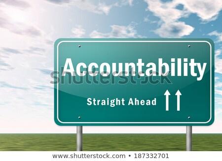 Accountability on Highway Signpost. Stock photo © tashatuvango