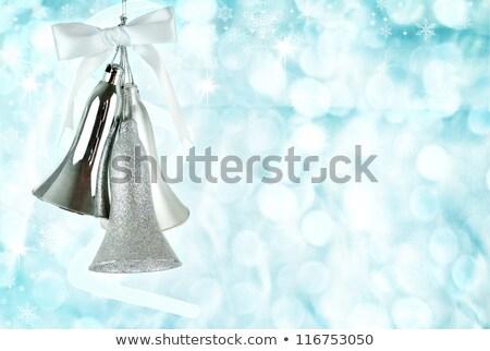 Natal sino prata padrão turva branco Foto stock © dashapetrenko