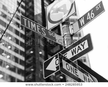 Times Square borden New York daglicht gebouw stad Stockfoto © lunamarina