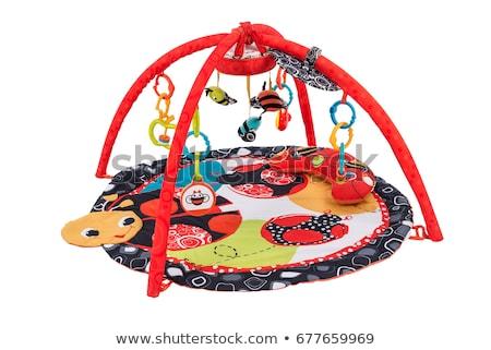 baby · gymnasium · geïsoleerd · gelukkig · spelen · speelgoed - stockfoto © nyul
